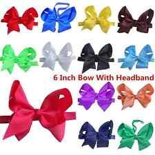 Newborn Baby Infant Toddler Girls Big Bow Headband Large Bow 6 Inch Bow Headband