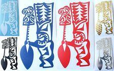 HAWAIIAN TIKI Tribal Hawaii Vinyl Decal Car / Truck Window Sticker ~ 6 Colors
