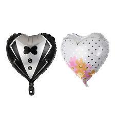"New Party Wedding Marriage Groom Bride Tuxedo Dress Air Helium Foil Balloon 18"""