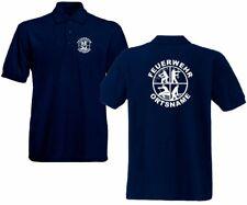 Feuerwehr Poloshirt marineblau versch.Druckfarben Signet Feuerwehrlogo Logo FS5
