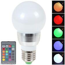 LAMPADINA LAMPADA FARETTO LED RGB TELECOMANDO LUCE COLORI E27 E14 GU10 MR16 3W