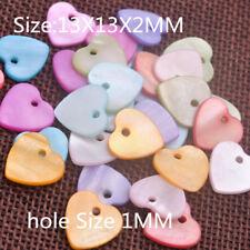 50PCS Flat Shell Charm Beads Heart-Shaped Handmade Jewelry Findings Accessories