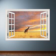 FULL COLOR GIRAFFE animal safari wall art sticker decal transfer Graphic WSD23