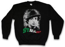 ROCKY STALLION FELPA Sylvester Italian Balboa Stallone Palestra Sweat Maglione