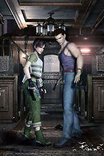 RGC Huge Poster - Resident Evil 0 Zero Nintendo GameCube Wii U - REE070