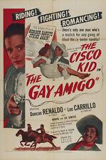 The Gay Amigo (1949) Duncan Renaldo Cult Western movie poster print 3