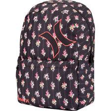 Hurley Wallflower Backpack Book Bag Girls School Black NEW NWT Floral