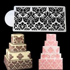Flower Lace Cake Stencils Fondant Cake Border Decoration Party Wedding DIY _hc