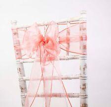 Organza Chaise écharpes noeuds mariage chaise décor 80 couleurs disponibles