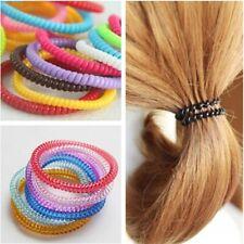 20pcs Girls Elastic Rubber Telephone Wire Hair Ropes Ponytail Holder