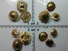 1 lotto bottoni gioiello pietre strass smalti pl oro buttons boutons vintage g5