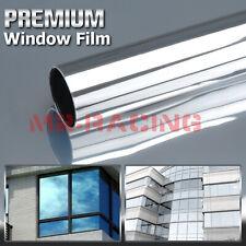 Light Silver Window Tint One Way Mirror Film UV Heat Reflective Home Office #7