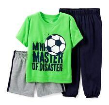 Carter'S Baby Boy 3Pc Soccer Ball Top Pants Pajama Set 12M 18M 24M
