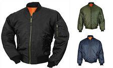 MA1 Army Pilot Biker Bomber Flight Military Security Doorman Harrington Jacket