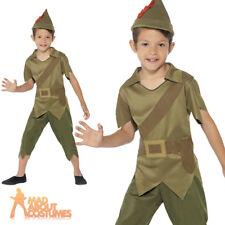 Boys Robin Hood Costume Child Book Week Fancy Dress Medieval Kids Outfit