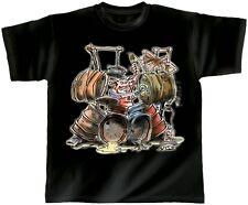 Designer Marken Musik T-Shirt ROCK YOU© Drum Pig Sonderpreis 10413