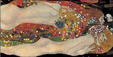 Gustav Klimt: Sea Serpents Keilrahmen-Bild Leinwand Klassiker Frau Art Deco