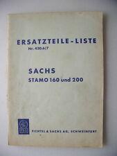 Sachs Stamo 160 und 200 Ersatzteile-Liste Nr. 430.6/7 Fichtel & Sachs