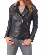 Women's Stylish Motorcycle Biker Genuine Lambskin Nappa Leather Jacket Wj 47