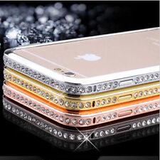 Slim metal diamond bling case bumper frame cover apple iphone 5 5s SE 6 6s plus