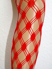 Rote Netzstrumpfhosen,sexy Strumpfhosen viele Motive, one size, Fantasiemuster