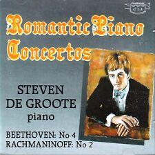 STEVEN DE GROOTE ROMANTIC PIANO CONCERTOS - BEETHOVEN No4 & RACHMANINOFF No2 New