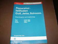 Werkstatthandbuch VW Golf II / Jetta II Einspritzanlage