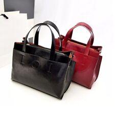 Women's Black Leather Messenger Shoulder Bag Big Sling Handbag Crossbody Tote