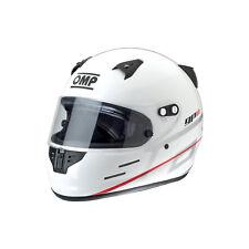 CASCO INTEGRALE BIANCO NERO KART OMP RACING GP 8K SC785EK OMOL FIA 8859-2015