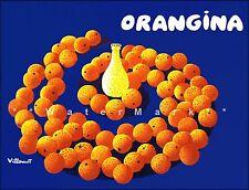 Orangina Drinks - Circles Vintage Poster Print Art Advertising Decor Art