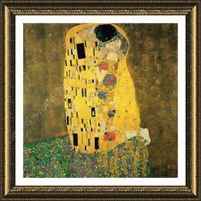 FRAMED Poster The Kiss Gustav Klimt Framed Canvas Framed Wall Decor