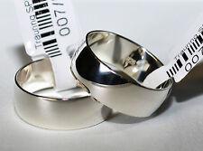 2 Silber 925 Trauringe Eheringe Verlobungsringe - Breite 7mm - Hochglanzpoliert