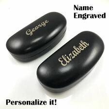 Name Personalized Hard Shell Metal Leather Sunglasses Case Eyeglasses Eyewear