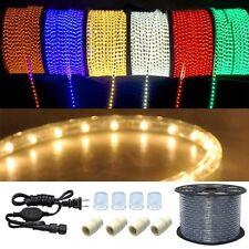 """50 100 150 ft 110V LED Light Rope String Outdoor Tree Party Garden Lighting 1/2"""""""