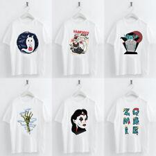 Women Gothic Devil T-shirt Summer Round Neck White Polycotton Fit Fashion Tops