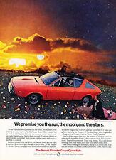 1974 Renault 17 Gordini Coupe Convertible Classic Vintage Advertisement Ad D160