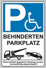 Schild Behinderten Parkplatz Privatparkplatz Hinweisschild Parkverbotsschild P64