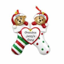Bear Stockings Family 2 3 4 5 6 7 8 9 Personalized Christmas Ornament Kit