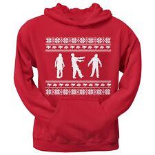 Zombie Ugly Christmas Sweater Red Adult Pullover Hoodie Hooded Sweatshirt