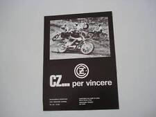 advertising Pubblicità 1971 MOTO CZ