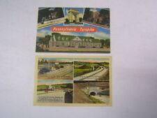 2 Postcards PA Turnpike Sites Scenes Buildings Unused