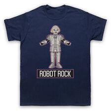 Robot Rock Rétro Sci Fi Dance Parodie Slogan Old School Hommes Femmes Enfants T-Shirt