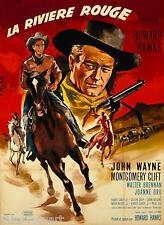 John Wayne The Red River Movie Poster 1948 Canvas Wall Art Film Print Western