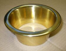 Mushroom vent Liner - polished brass  MUT002A
