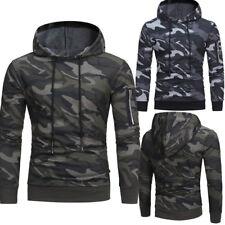 Fashion Men Winter camo Hoodie Hooded Sweatshirt Coat Jacket Outwear Sweater Top