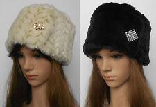 New Ladies Russian Style Cossack Warm Winter Ski Women Brooch Handmade Hat
