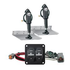 """NEW Lenco Marine Lenco 9"""" X 12"""" Standard Trim Tab Kit W/double Rocker Switch 151"""