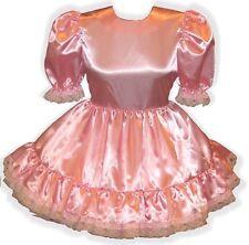 """Misty"" Custom Fit Basic Satin Adult LG Baby Sissy Dress LEANNE"