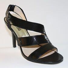 Women Shoes Michael Kors FARRIS Sandal Heels Slingbacks Strappy Black Sequin