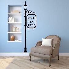 LAMPIONE & personalizzati Segno Adesivo Parete. ARTE Decalcomania. tutti i colori e dimensioni.